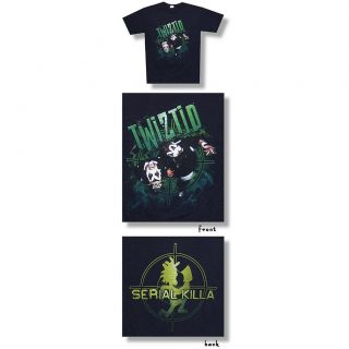 Twiztid Serial Killa Hatchet Man Logo Blk T Shirt New ICP Psychopathic