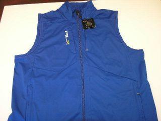 New Ralph Lauren RLX Golf Mens XXL Polyester Blue Water Repellent Vest