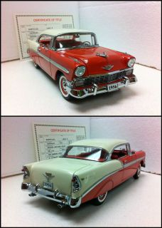 Danbury Mint 1956 CHEVROLET BEL AIR SPORT COUPE LE Near Mint w COT