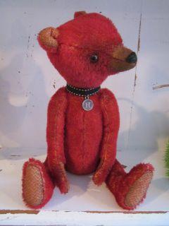 OOAK Red Mohair Bear