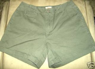 Kiko MO Green Khaki Cotton Shorts Size 9 10 Juniors