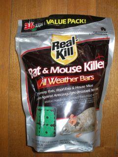 36 Pack Real Kill Rat Mouse Killer All Weather Bars Bait Poison