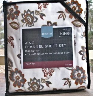 King or Queen Flannel Sheets Set Home Brand