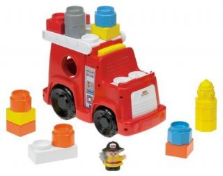Toy Kids Fisher Price Little People Builders Build N Drive Fire Truck