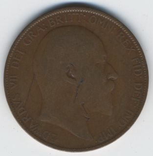 Penny 1907 Great Britain King Edward VII