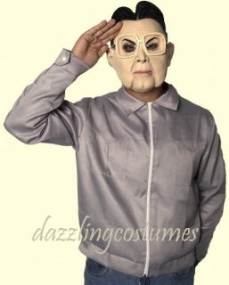 north korean costume adult large men jacket mask leader kim jong style