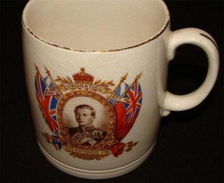 King Edward VIII May 12th 1937 Coronation Commemorative Gold Edged Mug