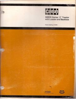 Series C Construction King Tractor Loader Backhoe Parts Manual