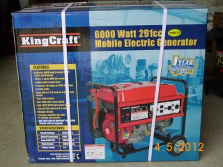 King Craft 6000 Watt Generator