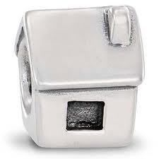 Pandora Sterling Silver House Charm Sterling Silver Hallmark Ale 925
