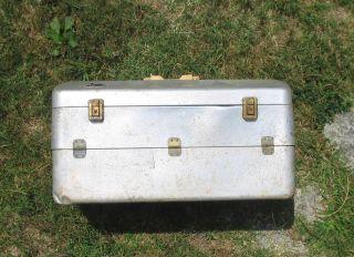 My Buddy Aluminum Fishing Tackle Box Huge Vintage