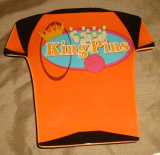 Luminarc BOWLING NIGHT Shirt KING PINS Pins Ball RETRO Snack PLATE