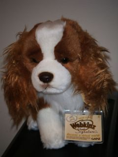 WEBKINZ SIGNATURE KING CHARLES SPANIEL Dog April NEW w/ Sealed Code IN