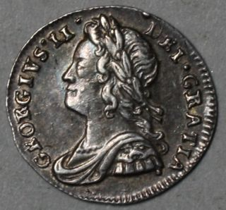 1739 KING GEORGE II silver PENNY pence HI GRADE GREAT BRITAIN Engaving