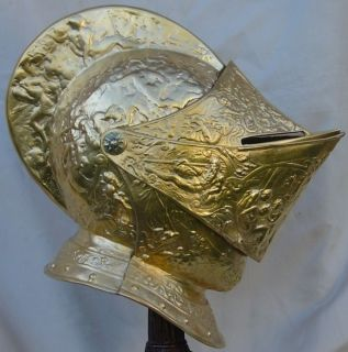 Medieval King of France Henry II Jousting Parade Helmet Real Gold