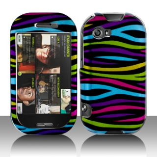 Sharp Kin Two Cell Phone Faceplate Cover Case Rainbow