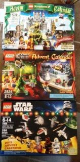 Lego 2824 7952 7958 Star Wars City Kingdom Lot of 3 Advent Calendars