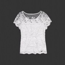 New Abercrombie by Hollister Women Kirstie Lace Top Blouse Cami Navy