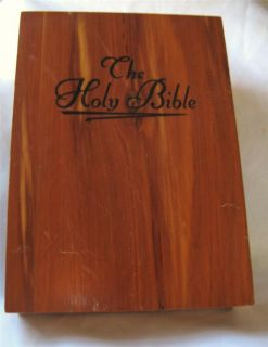 King James Red Letter White Bible with Concordance in Memorial Cedar