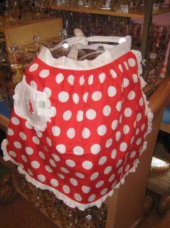 Disney World Minnie Mouse Polka Dot Kitchen Apron