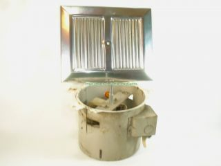 Vintage antique kitchen bathroom exhaust fan in wall used chrome