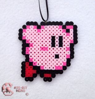 Kirby Dream Land Adventure Necklace Bead Sprite Perler Art