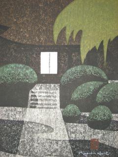 Kiyoshi Saito Japanese Woodblock Print Path