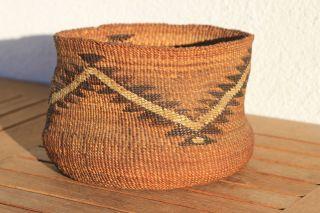 Klamath Indian Basket Quill Work