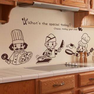 Chefs Kitchen Decor Wall Art Vinyl Decal Sticker Mural
