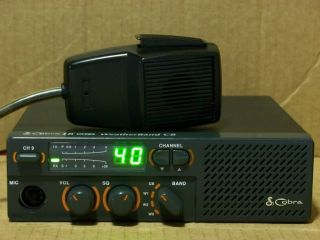Cobra 18 Ultra WX 40 Channel CB Radio with Mic Power Cord