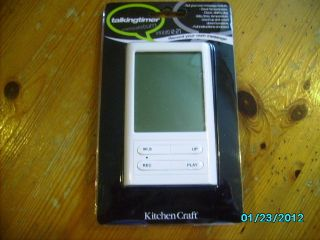 Kitchen Craft Digital Kitchen Talking Recordable Timer Clock Alarm