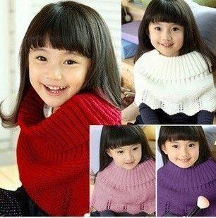 Kid Baby Girl Crochet Knitting Shawl Wrap Ponchos Coat