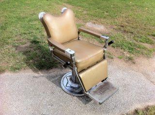 Antique Vintage Reliance Koenig Kramer Barber Chair