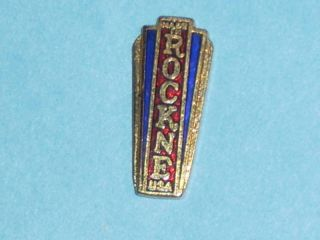 Notre Dame Football Knute Rockne Studebaker Radiator Emblem GrillBadge