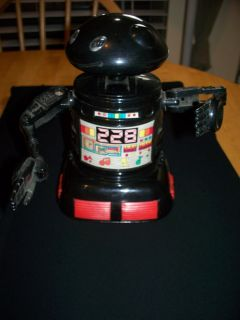 vINTAGE BLUE BOX HONG KONG OUTER SPACE ROBOT BATTERY OPERATED NOT
