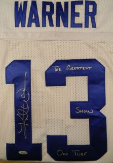 Kurt Warner Signed Jersey Auto Greatest Show on Turf Rams Tristar