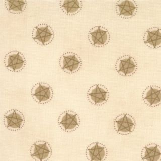 Moda Fabric Looking Back Natural Primitive Stars