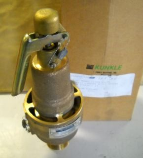 Kunkle Safety Relief Valve 1 1 4 6182 GF 6182GF01KMO125