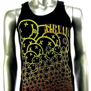 Sz M Nirvana Kurt Cobain T Shirt Tank Top Vest Biker Punk Rock V8