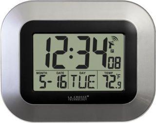 La Crosse Technology WT 8005U s Atomic Digital Wall Clock w Temp