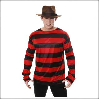 Krueger Red Black Stripe Dennis Freddy Adult Halloween Menace Fancy