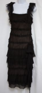Mendel Paris Multi Tiered Silk Cocktail Dress Size XXS