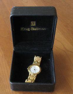 Krug Baümen Mens Charleston White Gold Watch 5116km