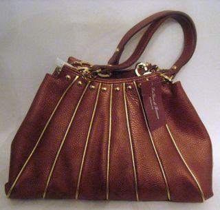 La Gioe Di Toscana Leather Hobo Handbag Bronze BNWT