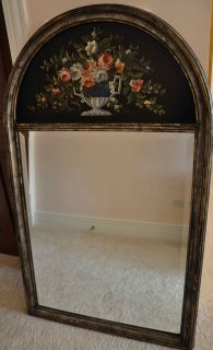 LaBarge Antique Looking Hand Painted Mirror   # 2026 Made in Italy
