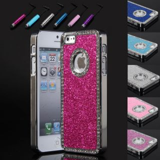 Bling Glitter Chrome Diamond rhinestone Hard Case Cover For iPhone 5