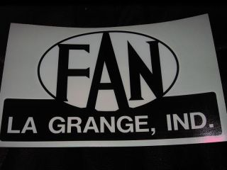 Fan Coach Vintage Travel Trailer Decals La Grange Ind