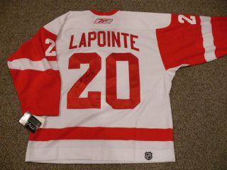 Detroit Red Wings Authentic Road White Game Jersey AutoD 20 Martin