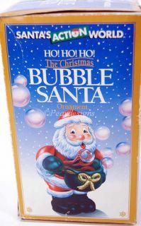Kurt s Adler Bubble Blowing Santa Claus Electric Ornament in Box