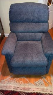 La Z Boy Luxury Lift Power Recliner Chair Lazy Boy Blue